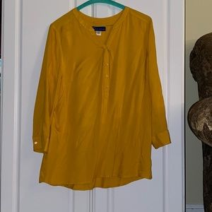 yellow long sleeve blouse 🌙